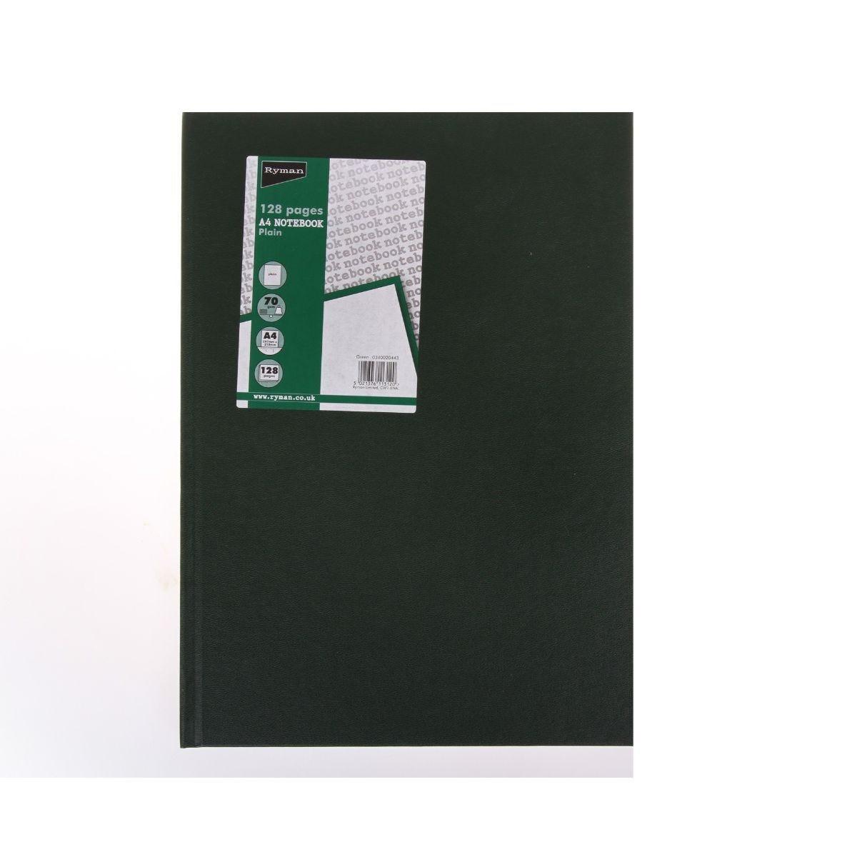 Ryman Casebound Memo Book Plain A4 128 Pages 70gsm