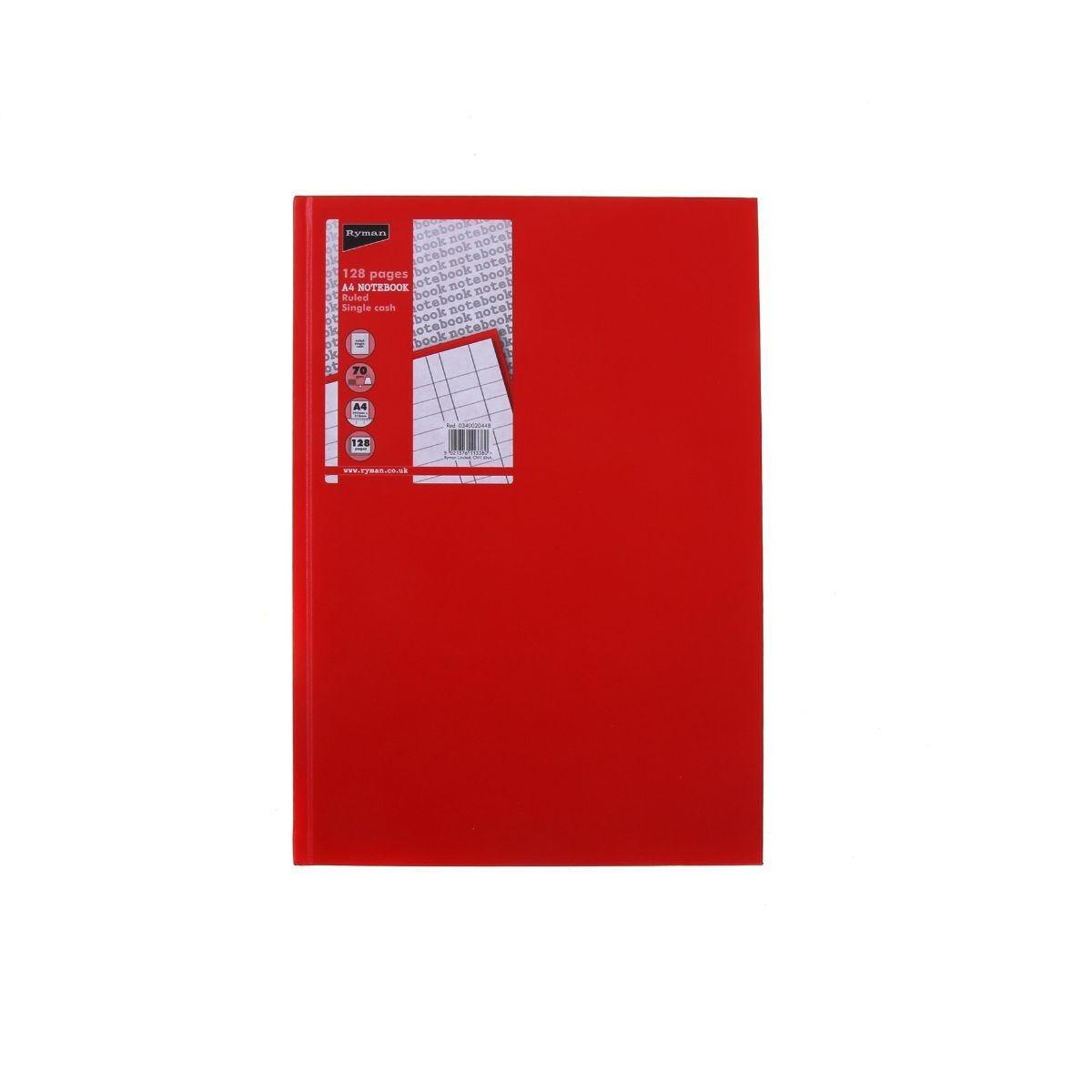 Ryman Case Bound Memo Book Single Cash A4 128 Pages 70gsm