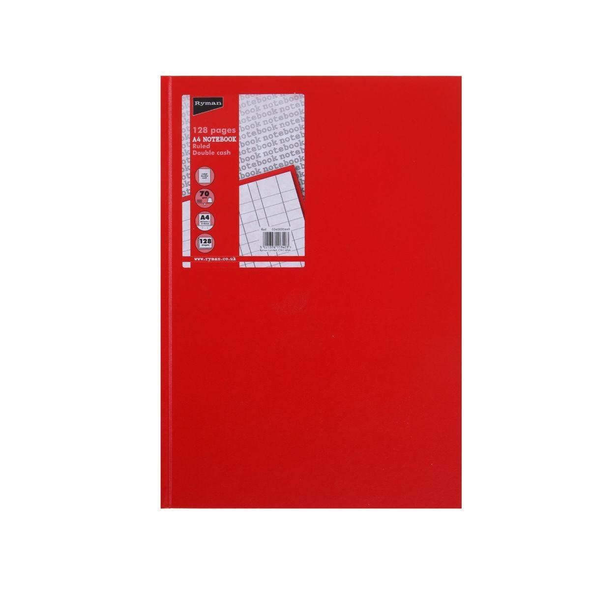Ryman Casebound Memo Book Double Cash A4 128 Pages 70gsm