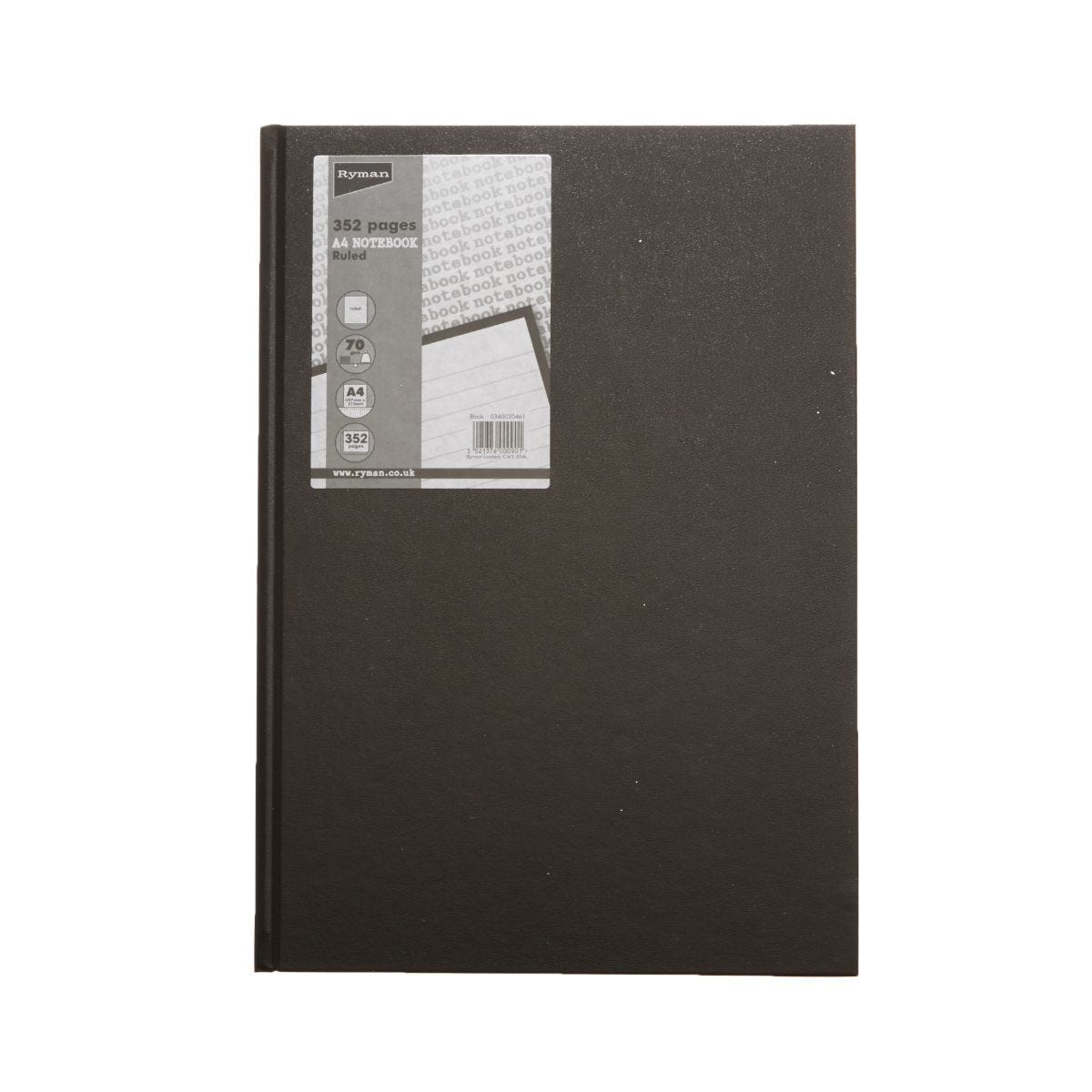 Ryman Notebook A4 Bumper Ruled Bound 352 Pages 192 Sheets