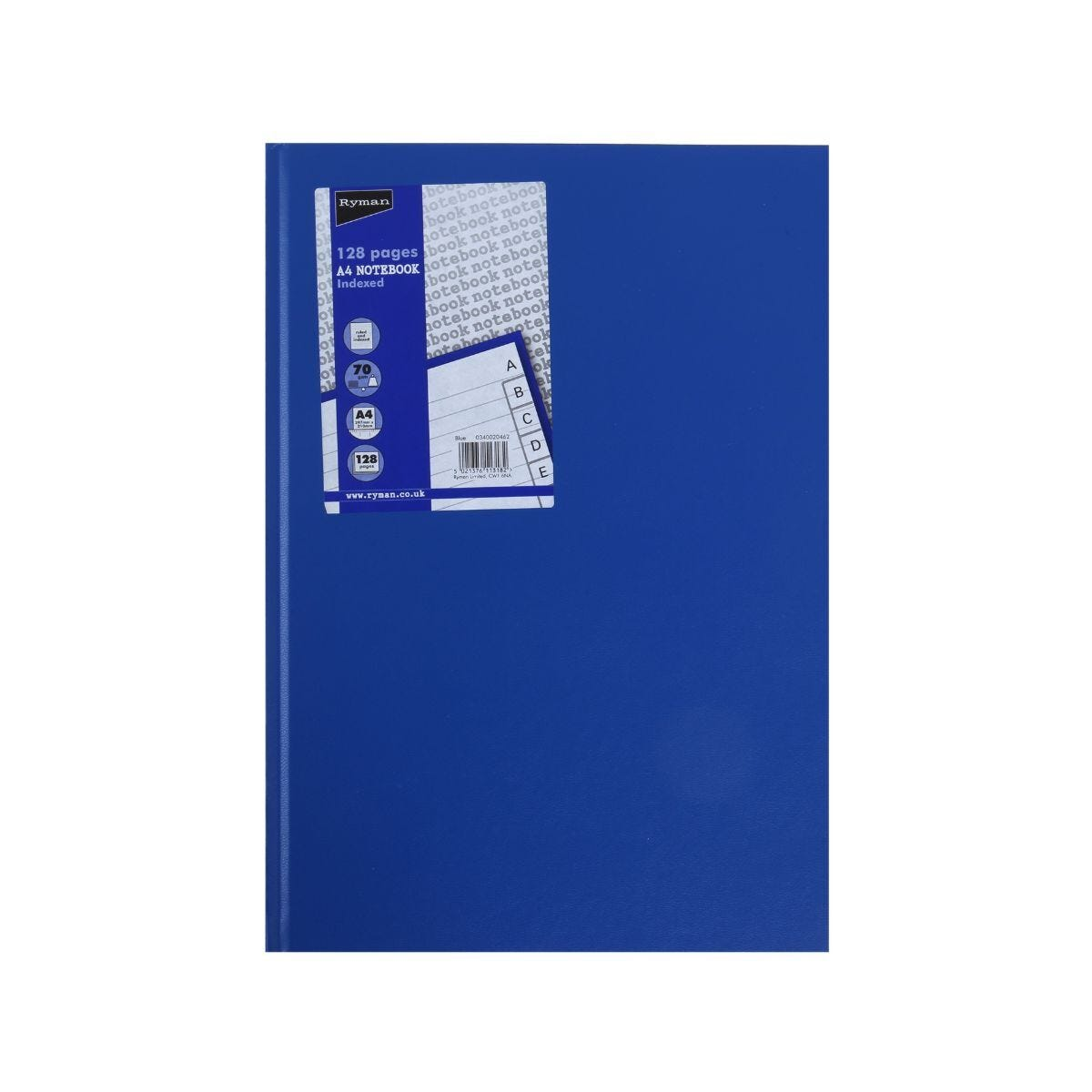 Ryman Case Bound Memo Book Indexed A4 128 Pages 70gsm