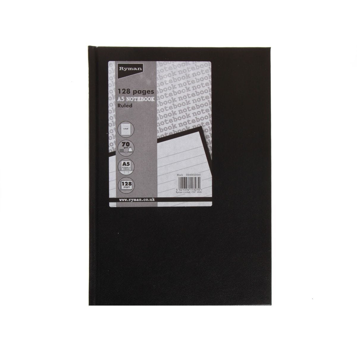 Ryman Casebound Memo Book Ruled A5 128 Pages 70gsm