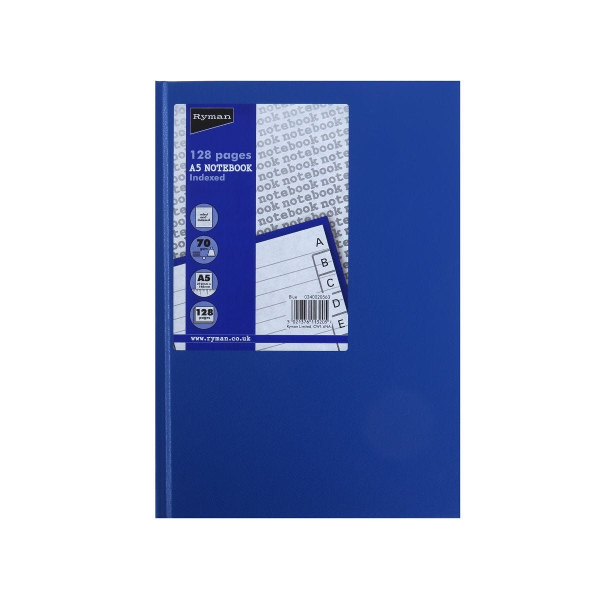 Ryman Case Bound Memo Book Indexed A5 128 Pages 70gsm