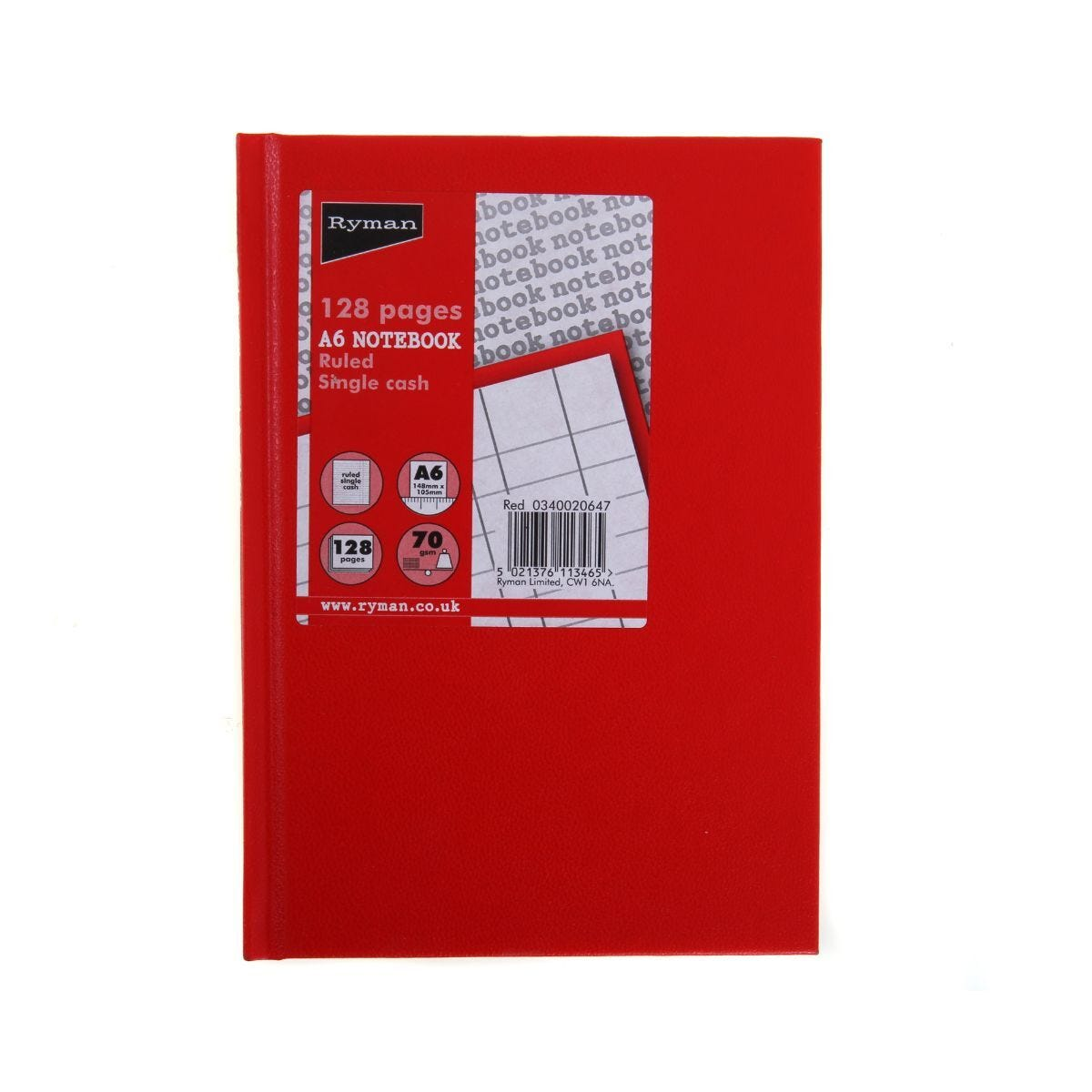 Ryman Casebound Memo Book Single Cash A6 128 Pages 70gsm