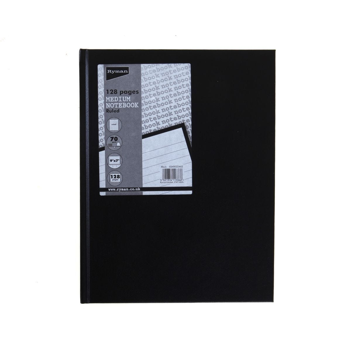 Ryman Case Bound Memo Book Ruled 9x7 128 Pages 70gsm