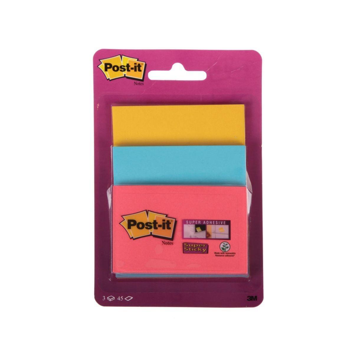 Post-It Super Sticky Combi Pack 3 x 45