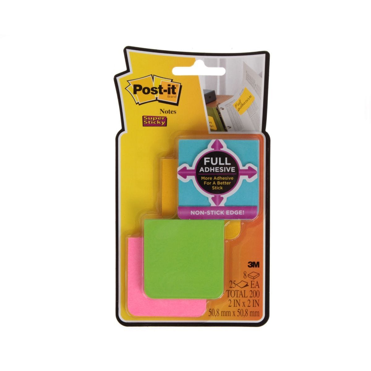 Post-It Full Adhesive Assorted Pack of 8