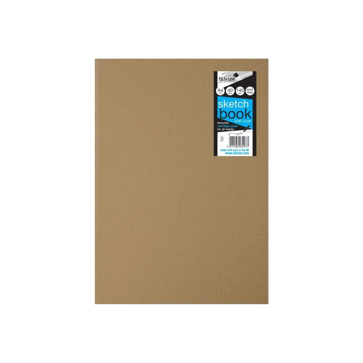 Silvine Sketch Book A4 Kraft