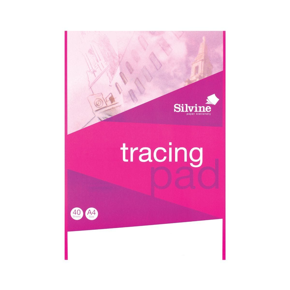 Silvine A4 Everyday Tracing Pad 40 Sheets 63gsm Pack of 6
