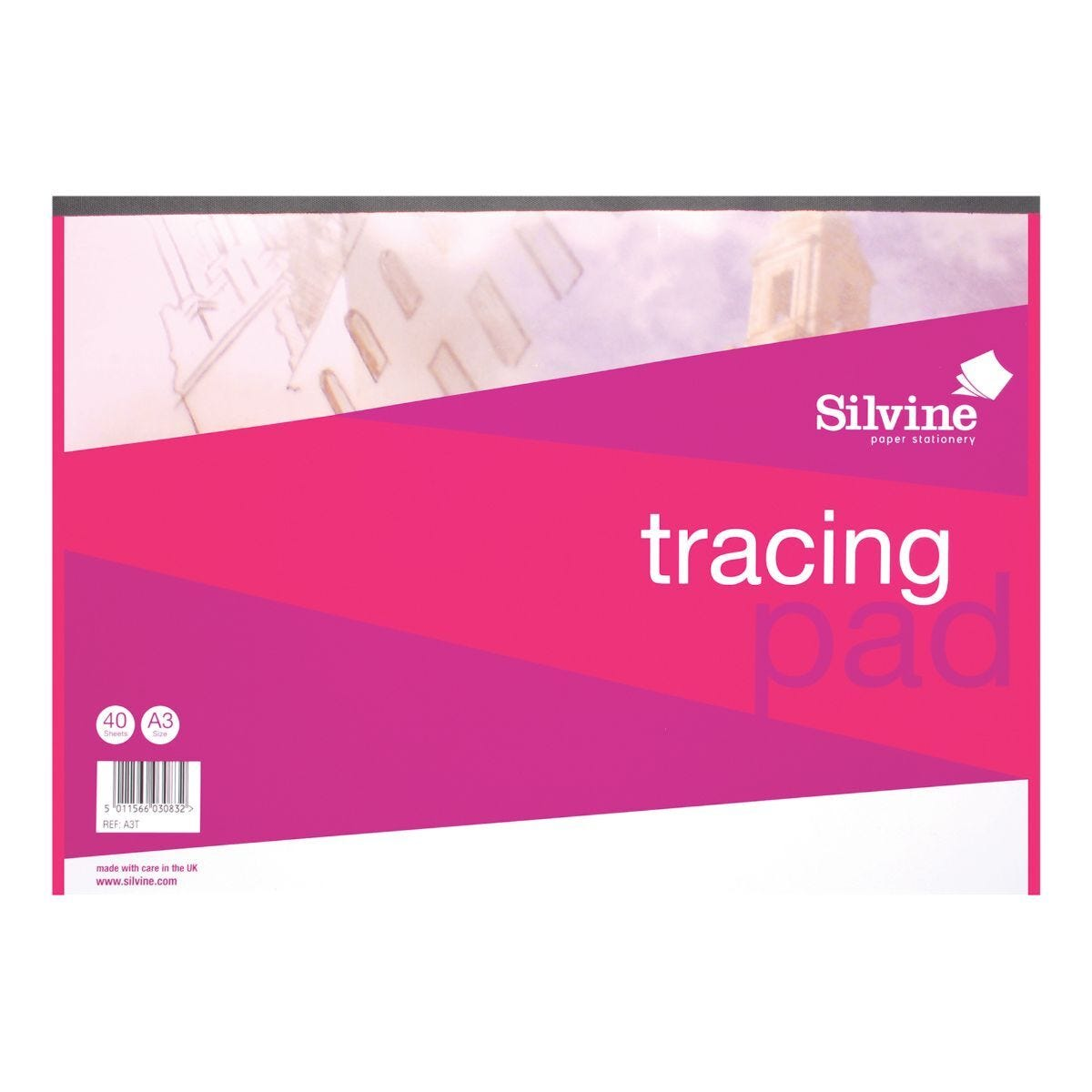 Silvine A3 Everyday Tracing 40 Sheets 63gsm