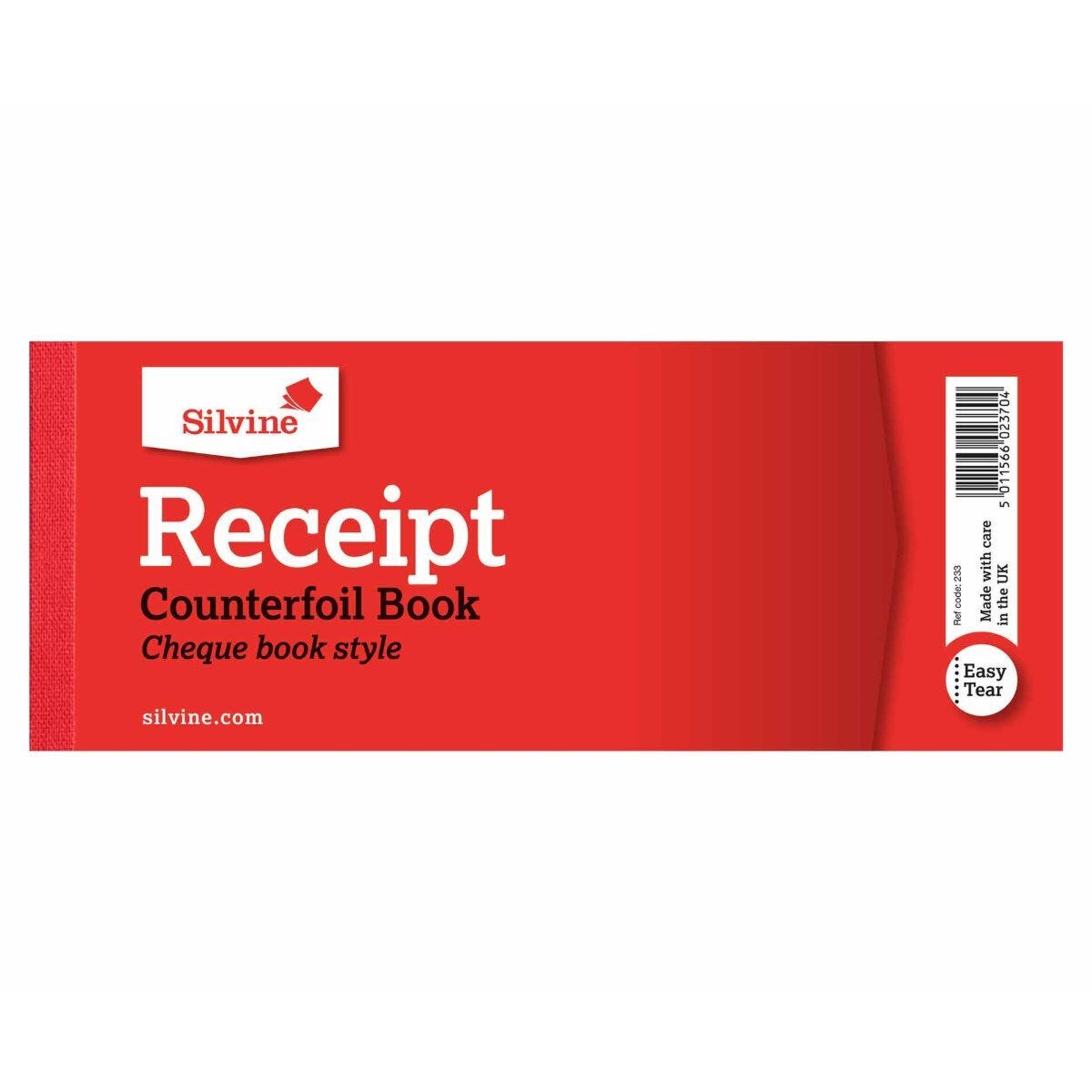 Silvine Cash Receipt Book 40 Sheets (Reference Number 233)