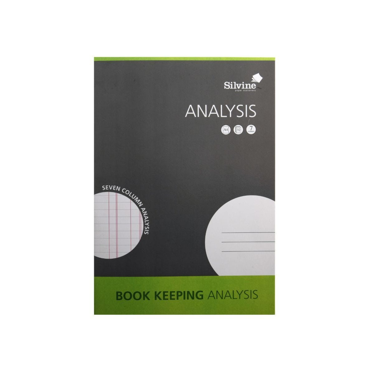 Silvine Analysis Book Keeping Pad A4 Ruled Double Entry 32 Pages 16 Sheets