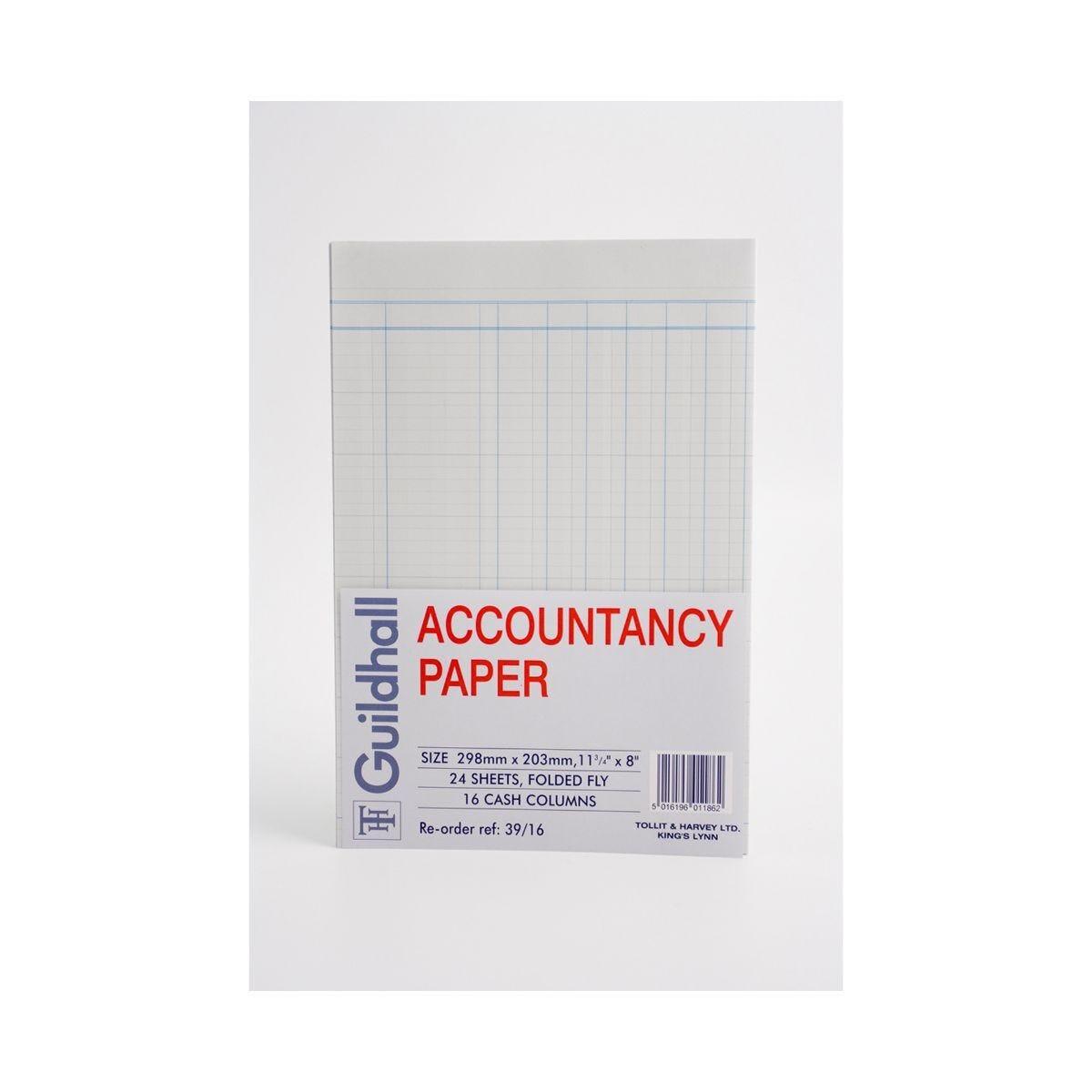 Guildhall Accountancy Paper A4 16 Column Cash
