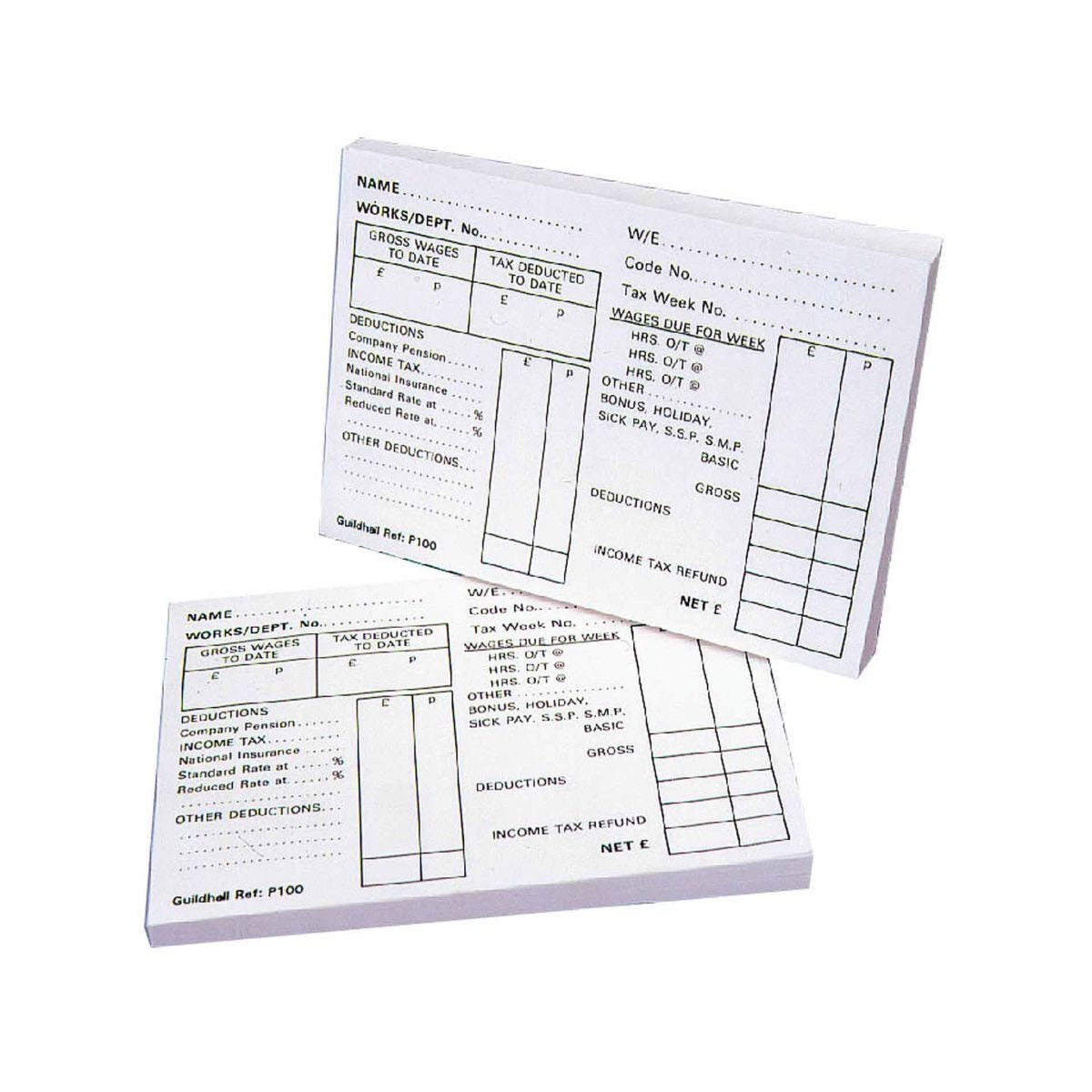 Guildhall Payslip Pad Pack of 5 127x89mm