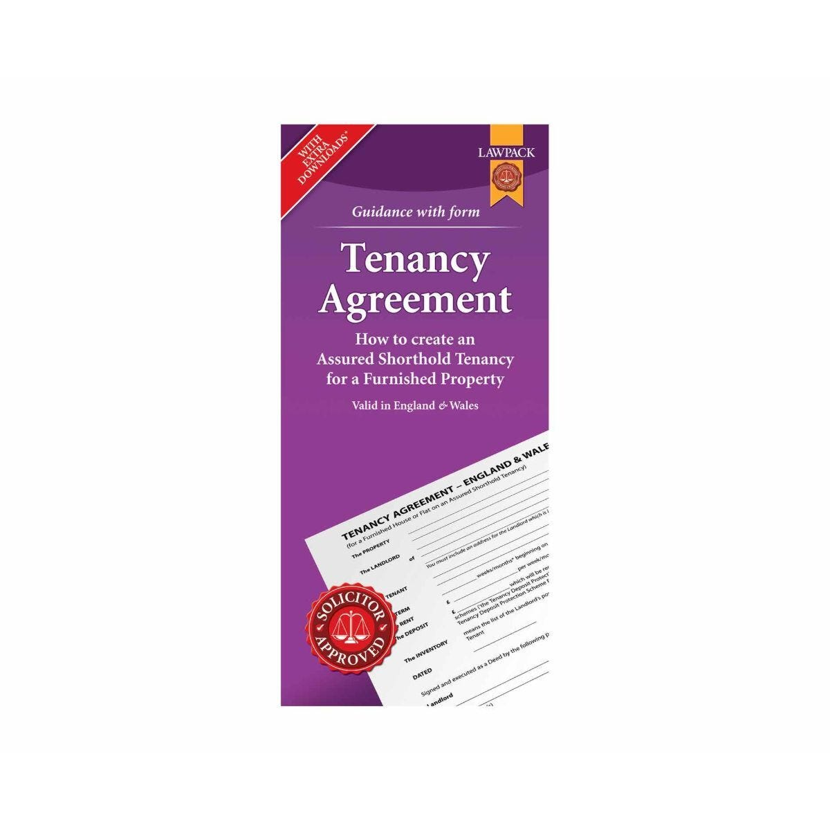 Lawpack Furnished Tenancy Agreement with Guidance Booklet