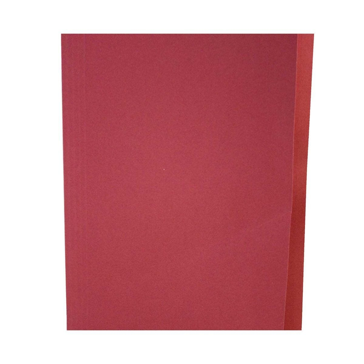 Square Cut Folders Foolscap Pack of 100 Red