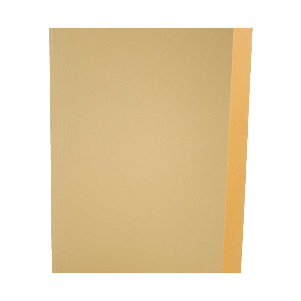 Square Cut Folders Foolscap Pack of 100 Yellow