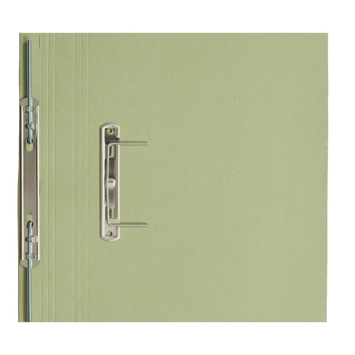 Transfer Spiral File Foolscap Pack of 50 Green