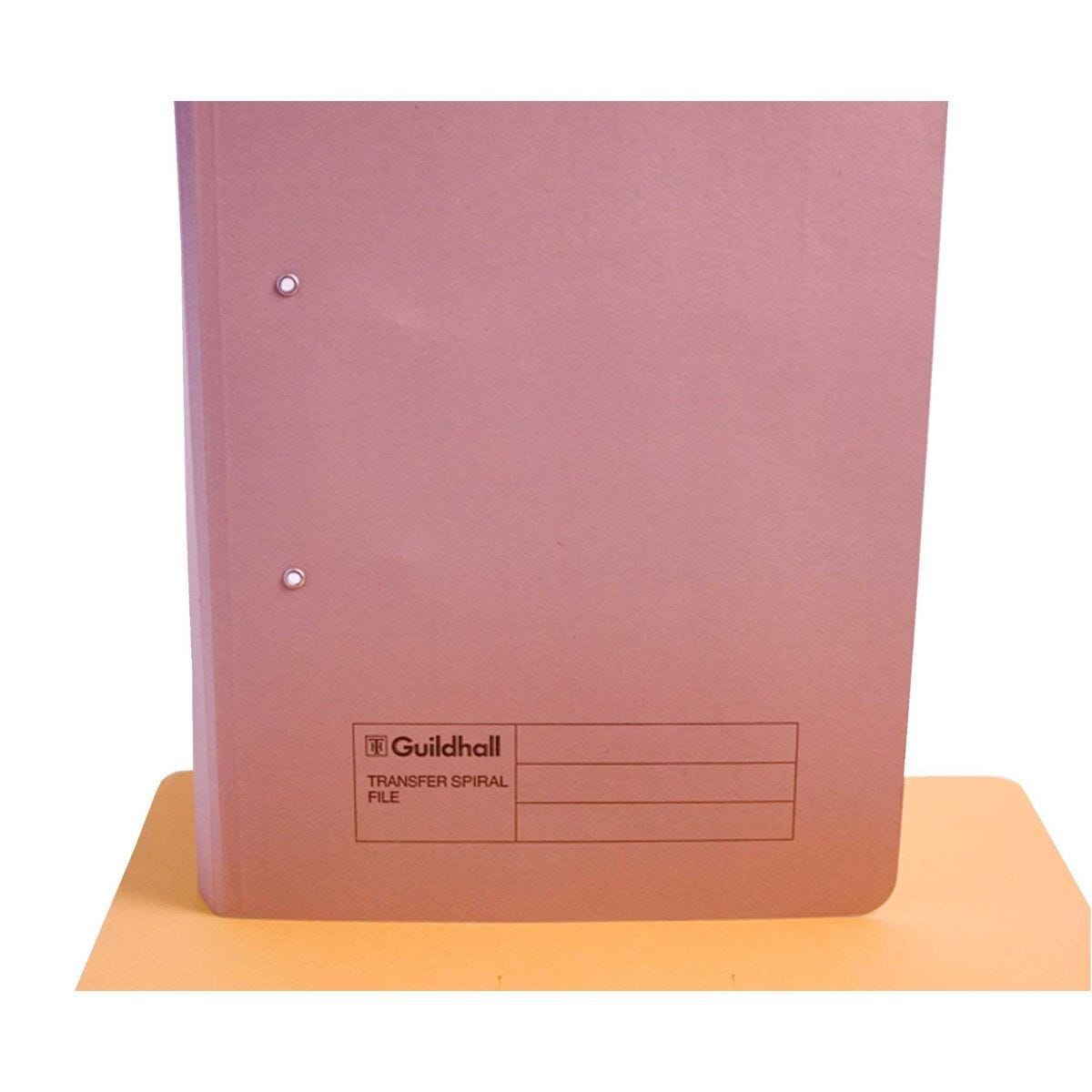 Transfer Spiral File Foolscap Pack of 50 Buff