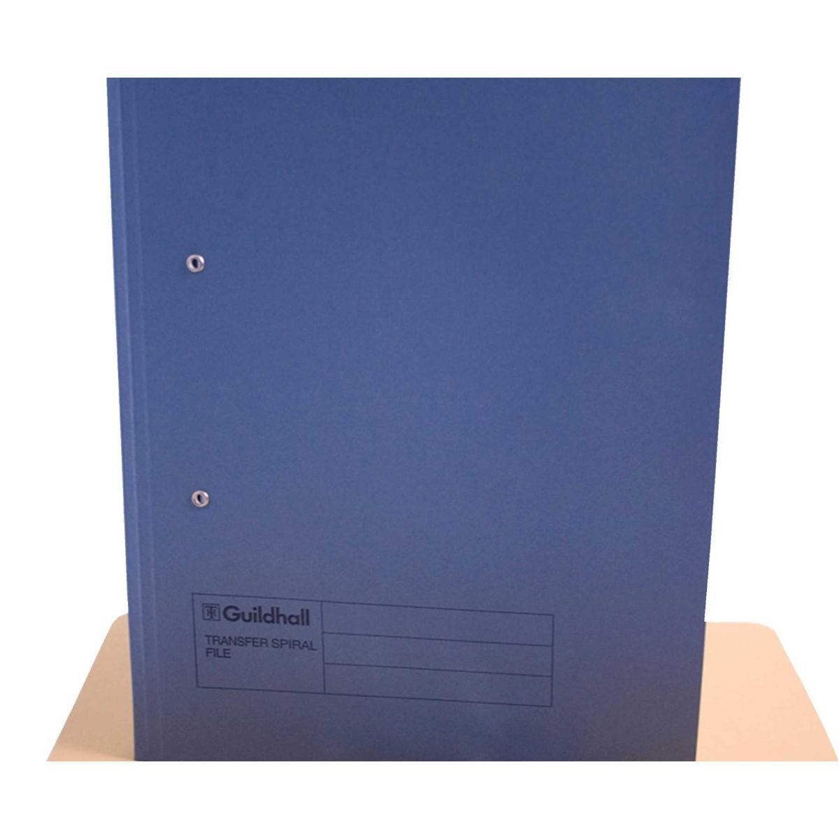 Transfer Spiral File Foolscap Pack of 50 Blue