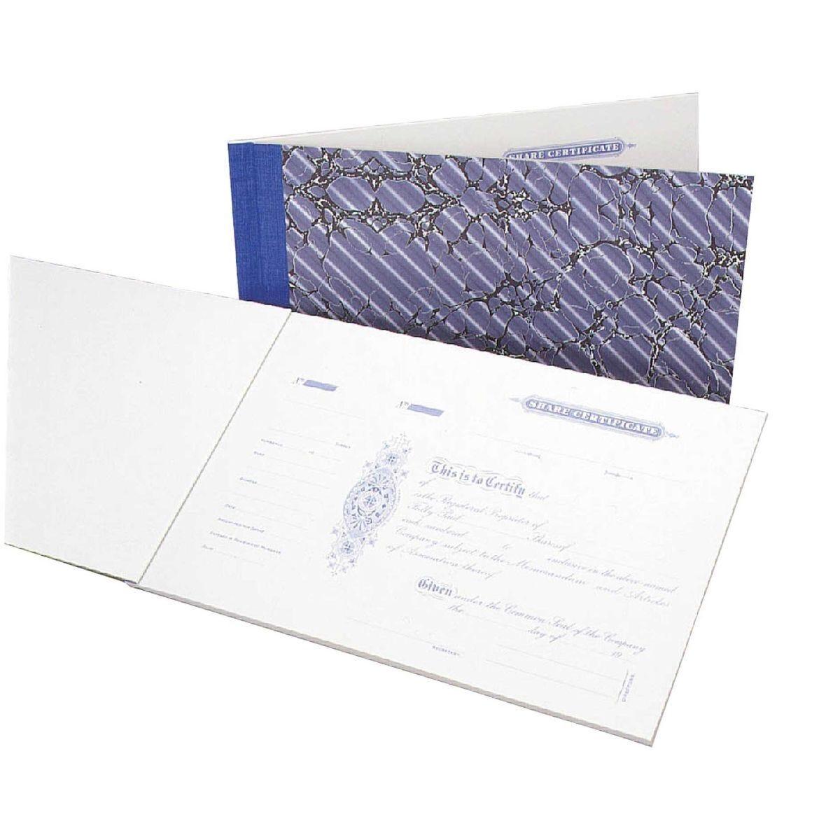 Share Certificate Book 25
