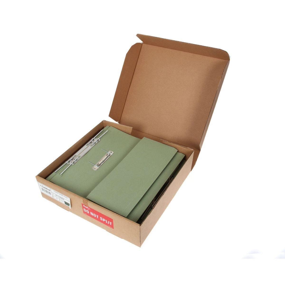 Super Heavyweight Spiral File Pack of 25 420GSM Green