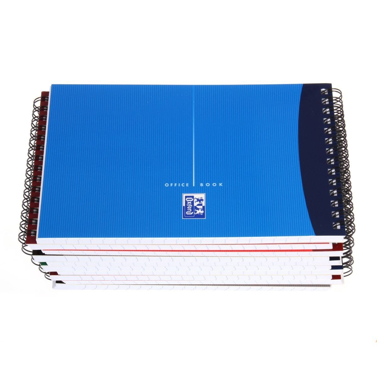 Oxford Soft Cover Notebook Wirebound With Ruler 180 pages 60 Sheets Pack of 10