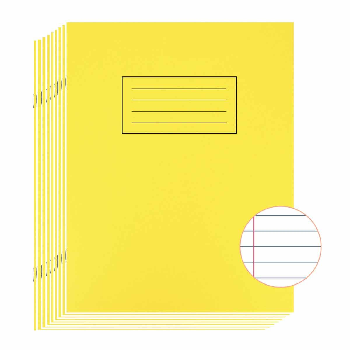 Silvine Exercise Book 9 Inch x 7 Inch Ruled 75gsm Pack of 10 Yellow