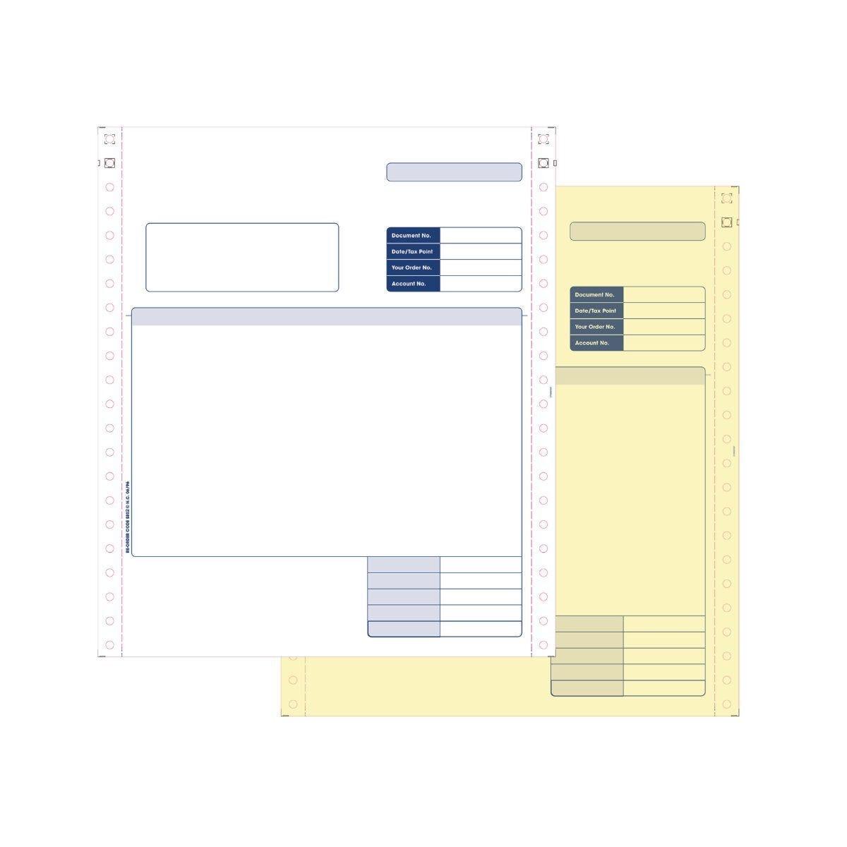 Custom Form Sage Compatible 2-Part Invoice for Dot Matrix Printers Pack of 1000