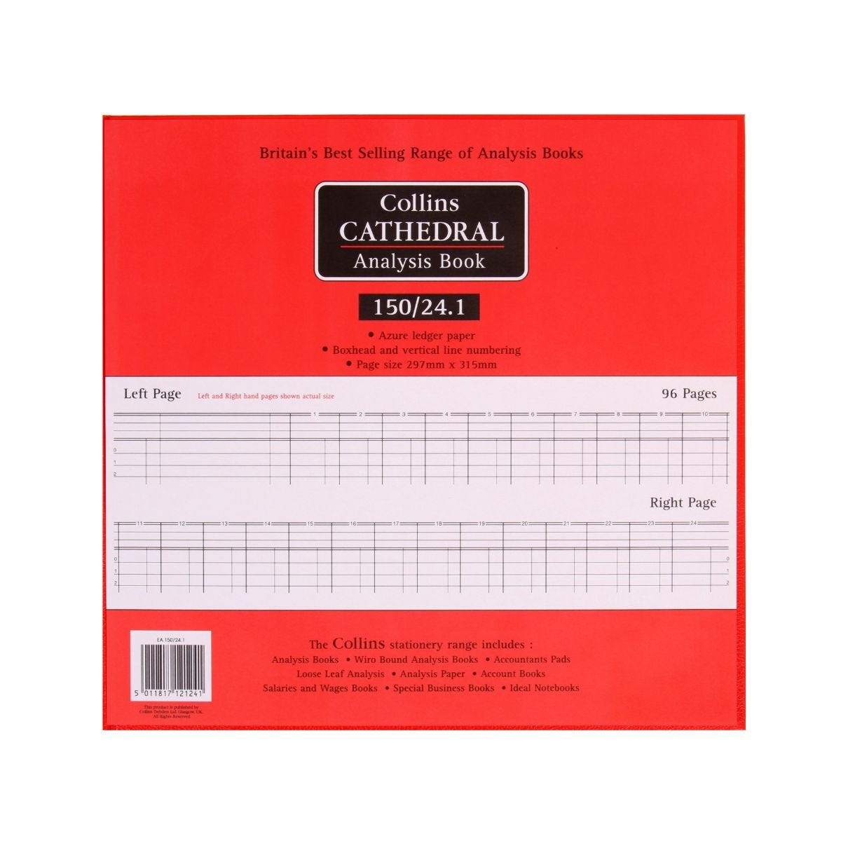 Collins Cathedral Analysis Book 150 Series 24 Cash Columns 150/24