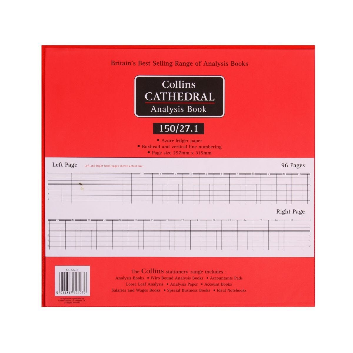 Collins Cathedral Analysis Book 150 Series 27 Cash Columns 150/27
