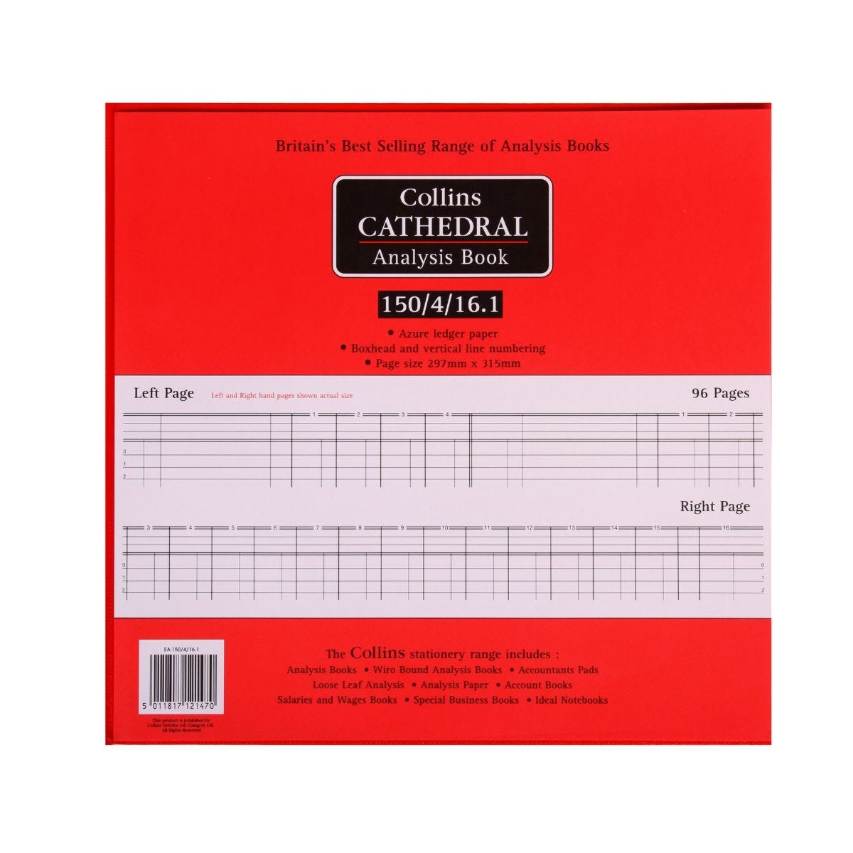 Collins Cathedral Analysis Book 150 Series 4 Debit 16 Credit 150/4/16