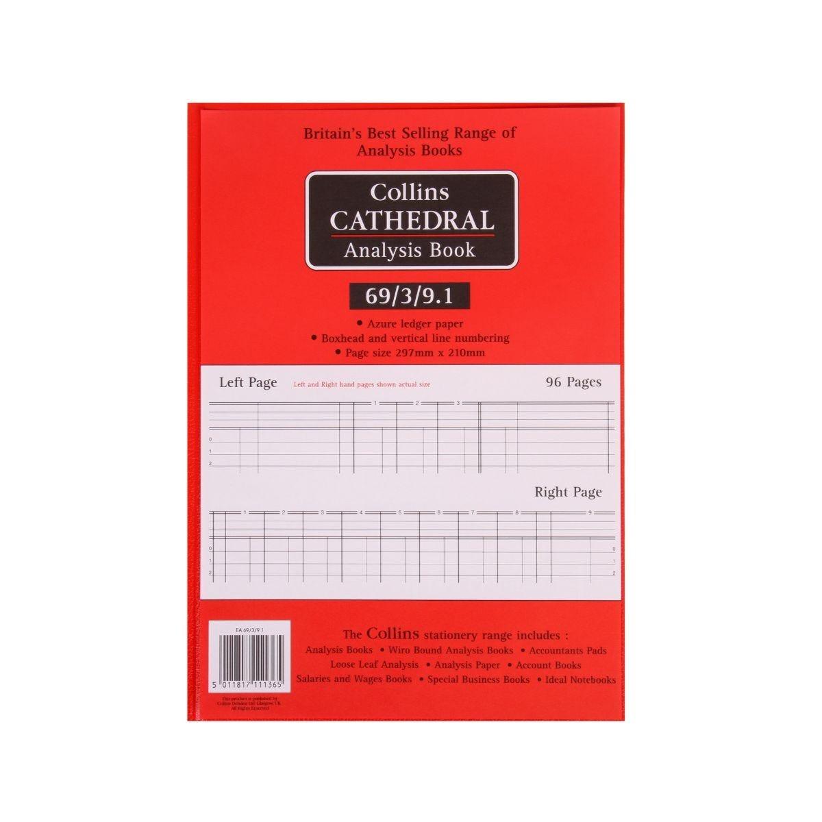 Collins Cathedral Analysis Book 69 Series 3 Debit 9 Credit Columns 69/3/9