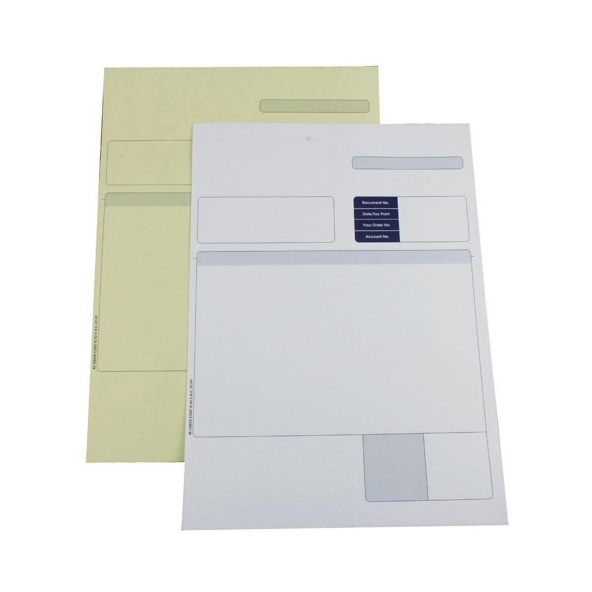 Custom Form Sage Compatible 2-Part Invoice for Laser & Inkjet Printers A4 Pack of 500
