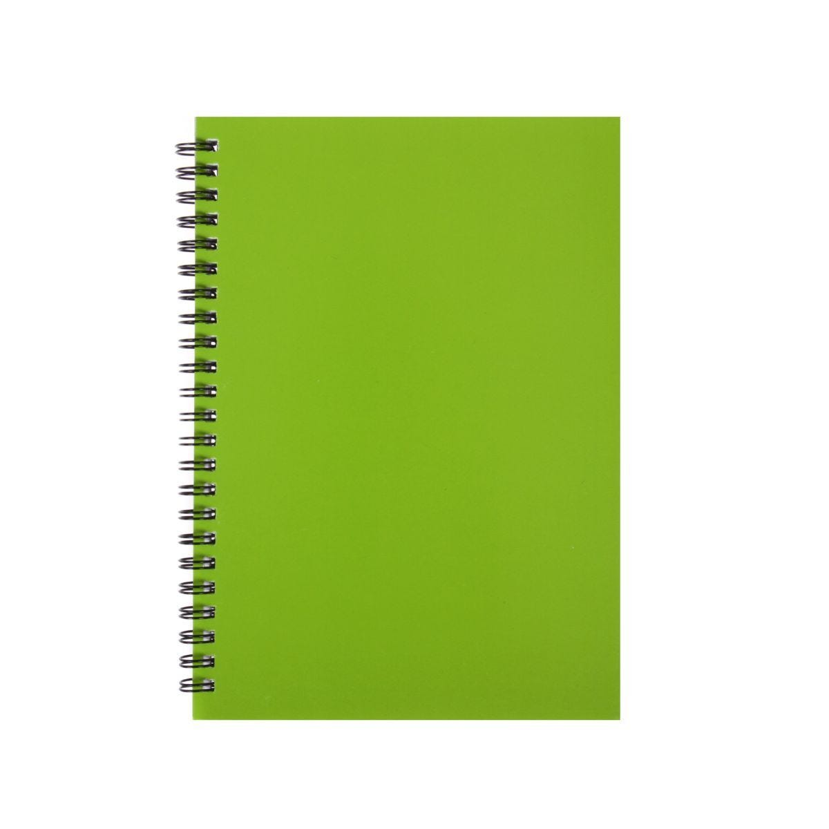 Ryman Essentials Notebooks A5 Ruled 80 Sheets Lime Green