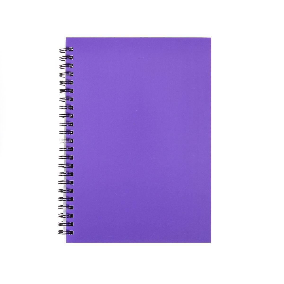 Ryman Essentials Notebooks A5 Ruled 80 Sheets Purple