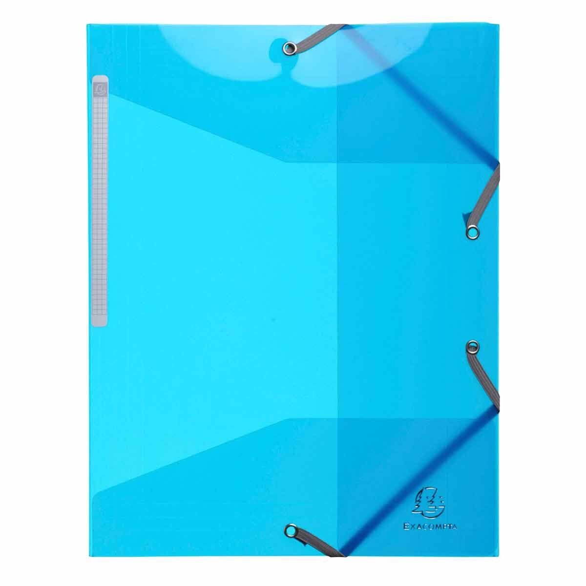Exacompta Iderama Elasticated 3 Flap Folder A4 Pack of 15