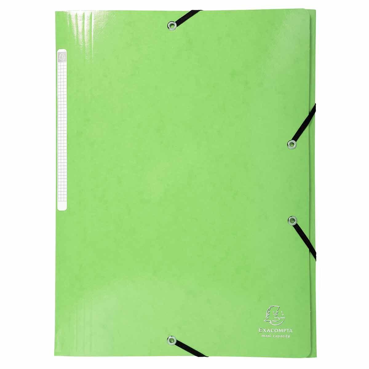 Exacompta Iderama Elasticated 3 Flap Folder Maxi Capacity 600gsm Pack of 25
