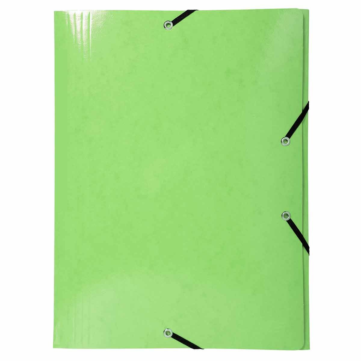 Exacompta Iderama Elasticated 3 Flap Folder A3 590gsm Pack of 5