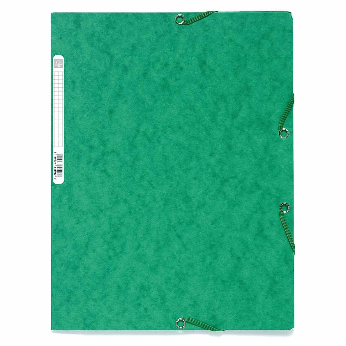 Exacompta Europa Elasticated 3 Flap Folder A4 400gsm Pack of 25