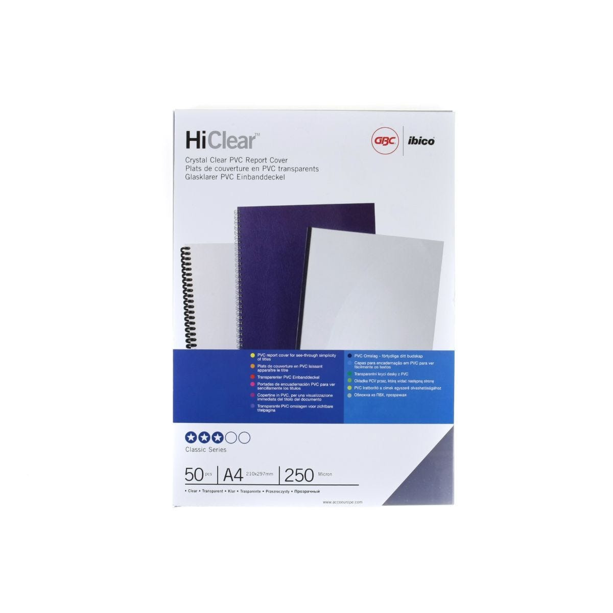 GBC Binding Covers A4 Pack of 50