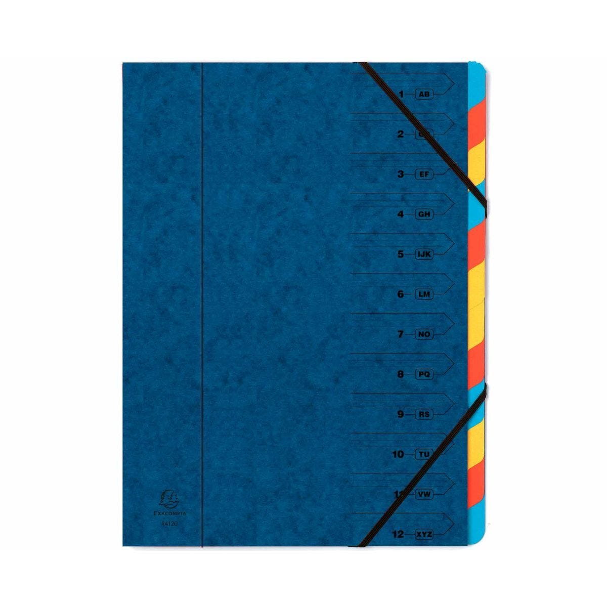 Exacompta Europa Multi File 12 Part Card Dividers A4 400gsm Pack of 8 Blue