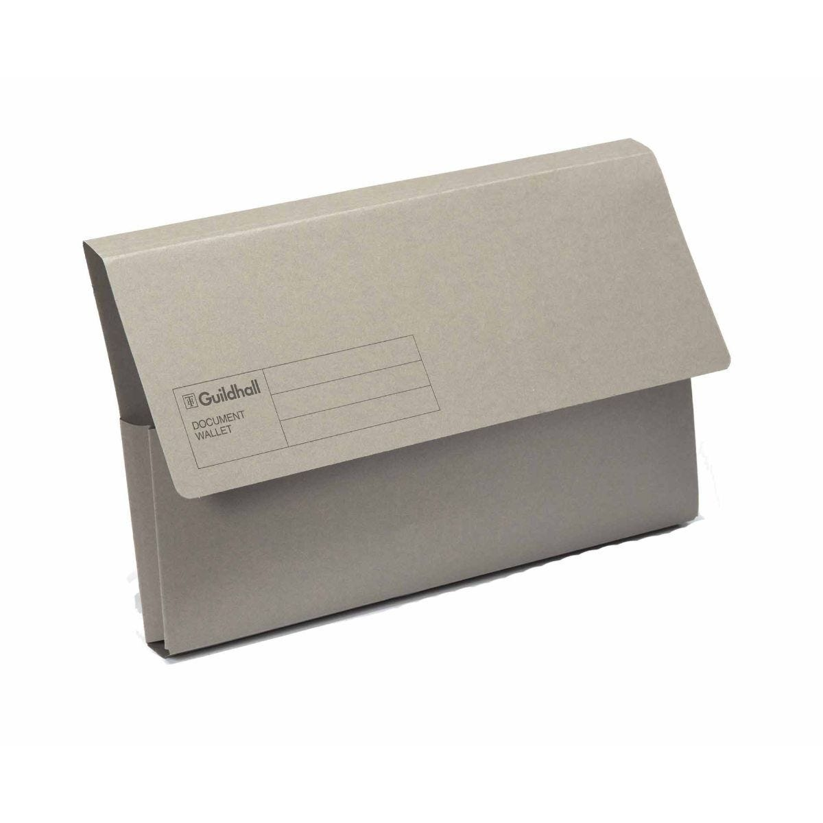 Exacompta Guildhall Document Wallet Foolscap Pack of 50 285gsm Grey