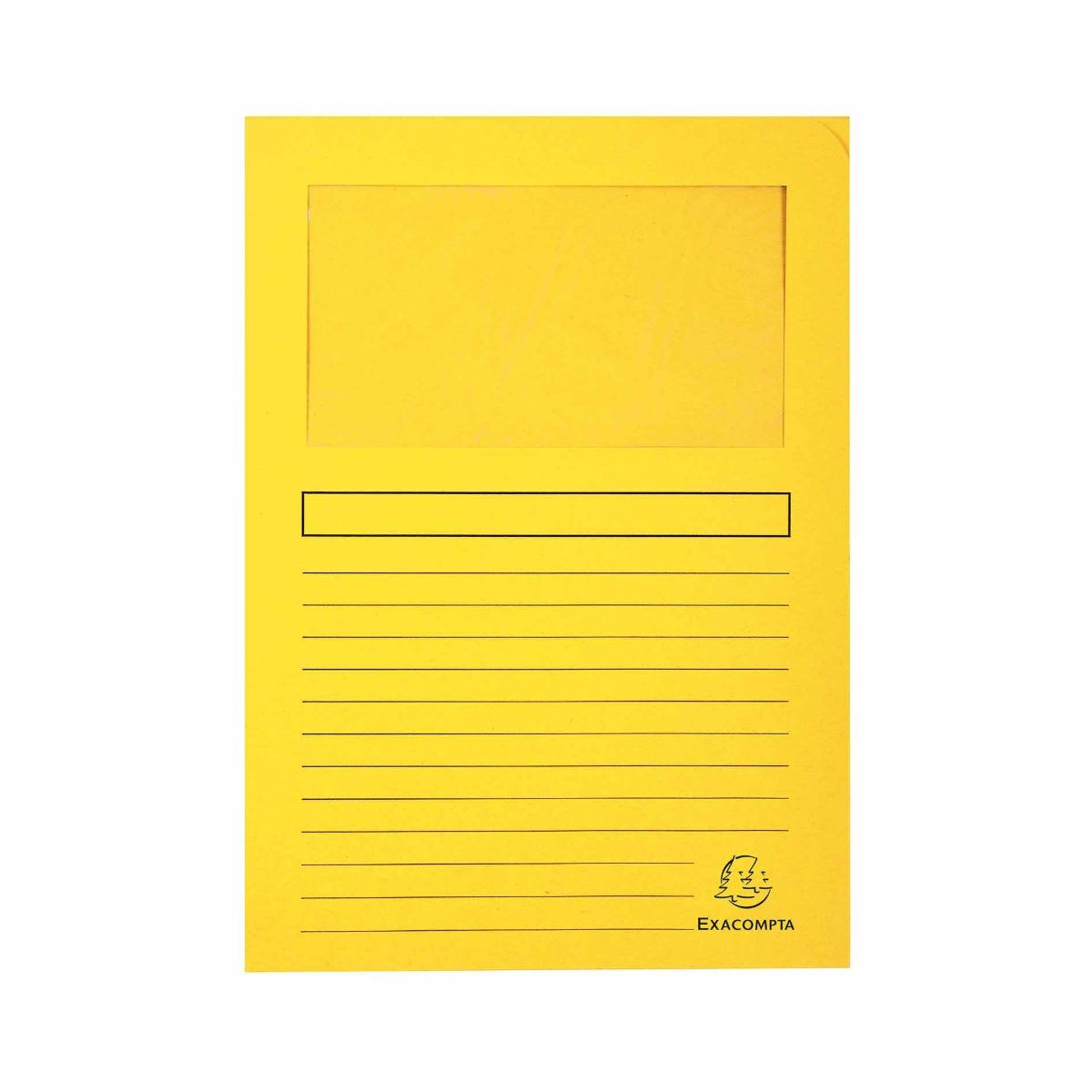 Exacompta Forever Window Folders A4 4 Packs of 100 Yellow