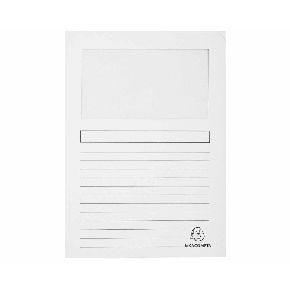 Exacompta Forever Window Folders A4 4 Packs of 100 White