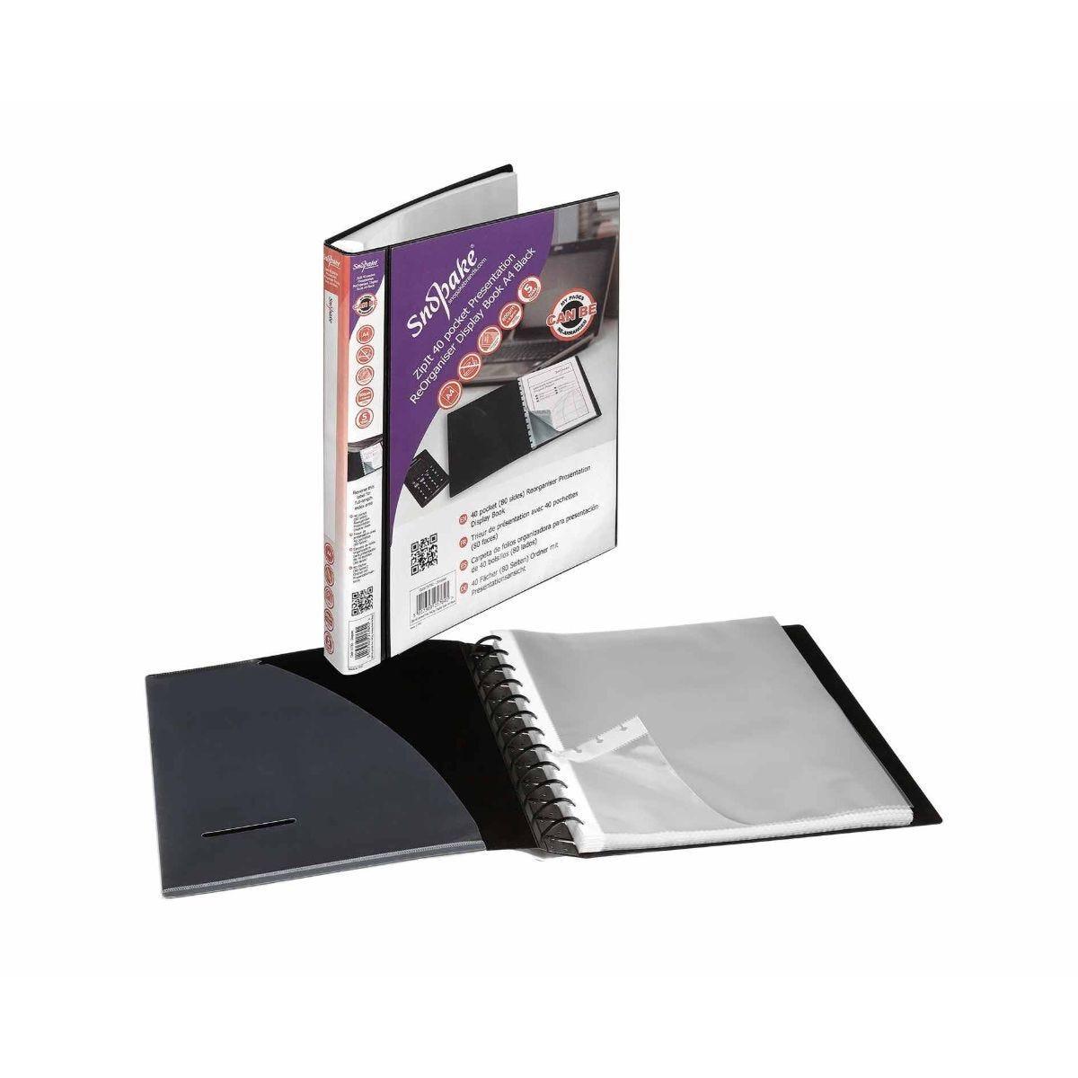 Snopake Executive Organiser  A4 40 Pockets