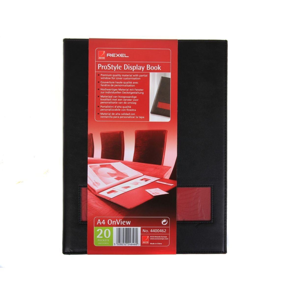 Rexel Prostyle Display Book 20 Pocket