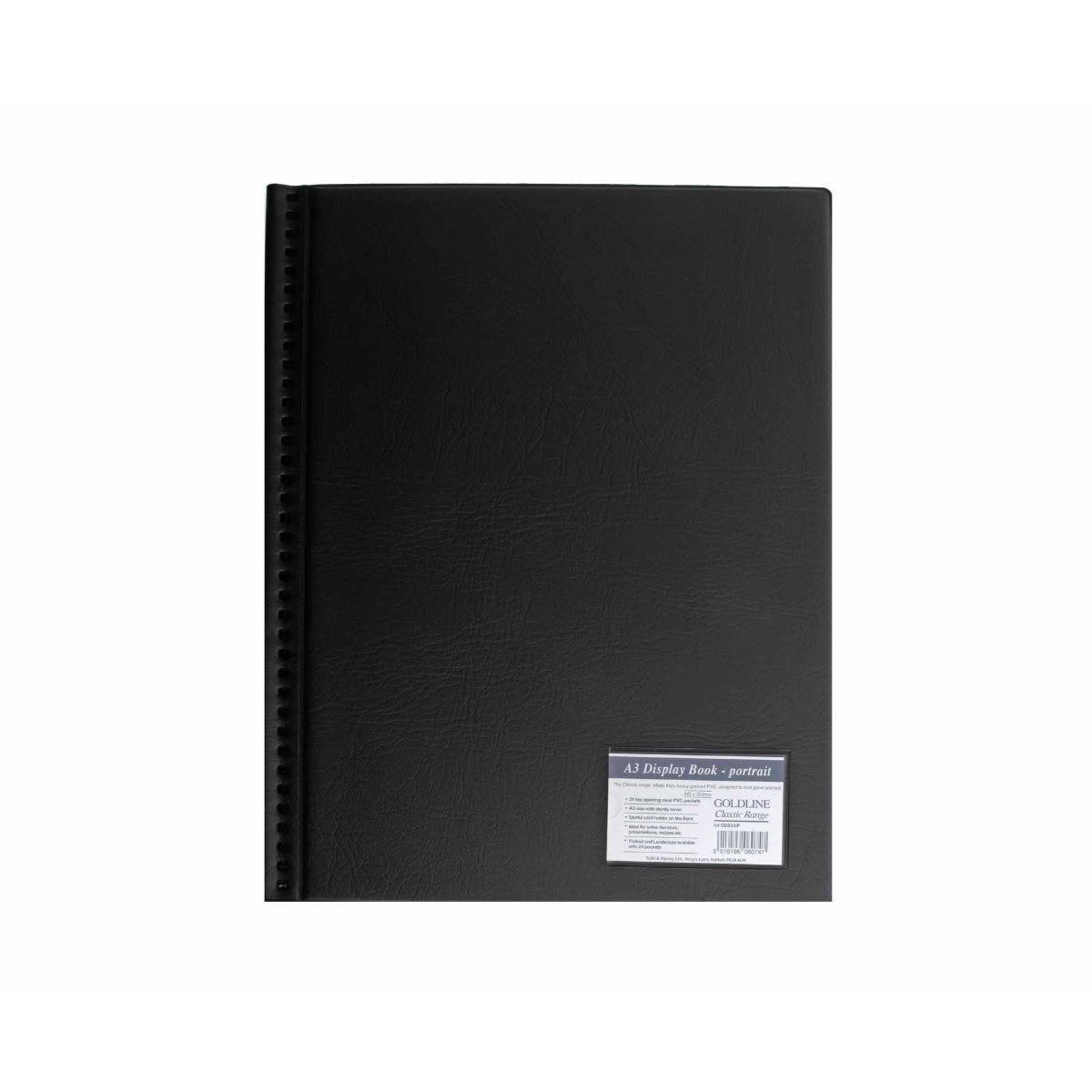 Goldline Display Book A3 24 Pocket Portrait Presentation Folder