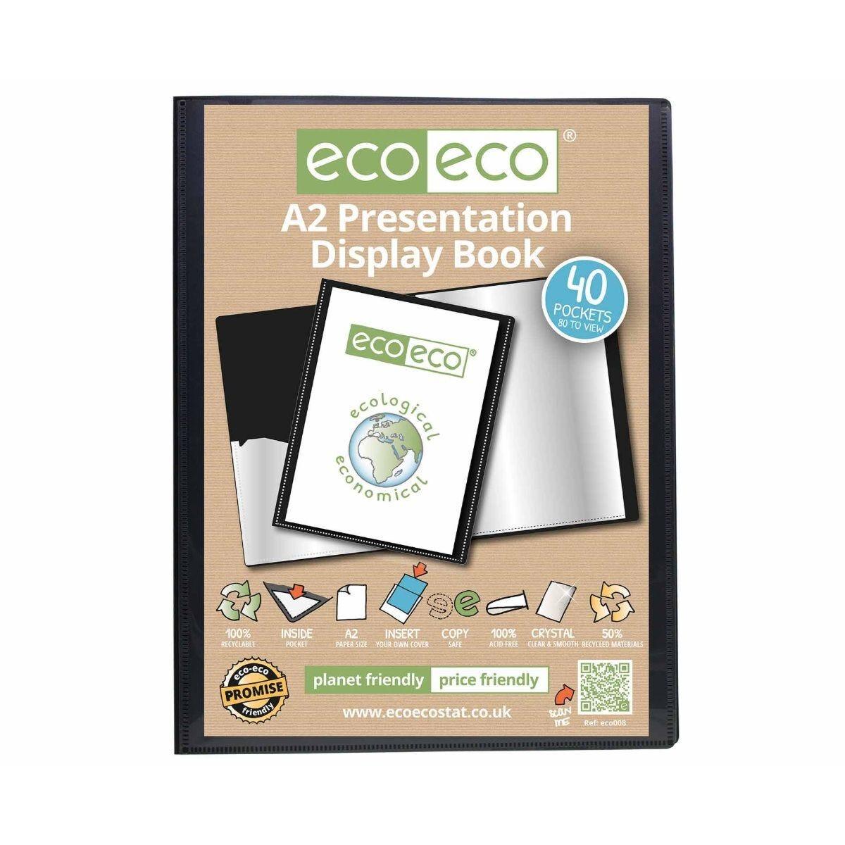 eco eco Presentation Display Book 40 Pocket A2 Black
