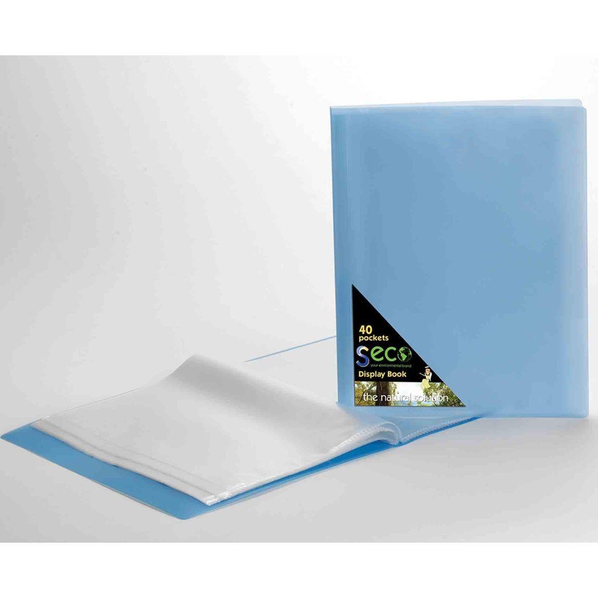 Seco Biodegradable Display Book A4 40 Pockets Blue